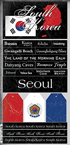 - South Korea Scratchy Sticker Seoul,Busan