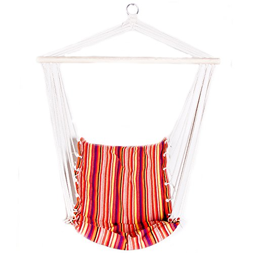 Nice ReLIVE Rope Hanging Hammock Chair Swing With Included Cus.