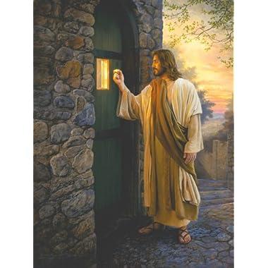 Let Him In by Greg Olsen Religious Jesus Print Poster