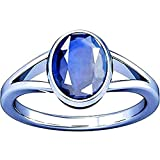 GEMS HUB 10.2 Ct. 11.25 Ratti Blue Sapphire Ring ( Nilam / Neelam stone Silver Ring ) 100% Original AAA Quality Gemstone