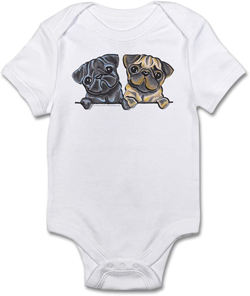 inktastic Valentines Day Pugs /& Kisses with Hearts Newborn Layette