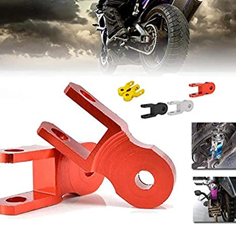 Semoic 2 New Large Aluminum Motorcycle Motorcycle Off-Road Vehicle Shock Absorber Height Extender Suspension Lifter Black