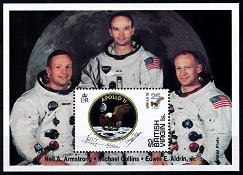 (Famous Astronauts - Apollo - Limited Edition Stamps - British Virgin Islands)