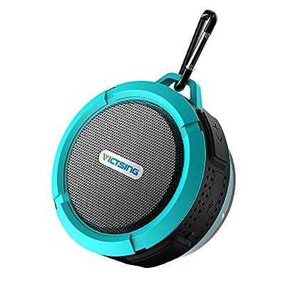 VicTsing Shower Speaker, Wireless Waterproof Speaker with 5W Driver, Suction Cup, Buit-in Mic, Hands-Free Speakerphone