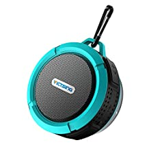 VicTsing Bluetooth Shower Speaker, Mini Portable Waterproof Bluetooth Speaker Hands-Free Speakerphone ( with Buit-in Mic, Superior Sound, Blue)