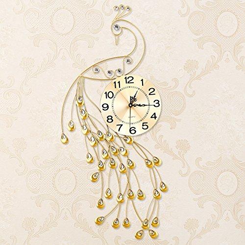 KHSKX-Der Pfau Uhr Uhr Großes Wohnzimmer Uhr Modernen Minimalistischen Quarz - Uhr Europäische Stumm Persönlichkeit Leuchtenden UhrEin