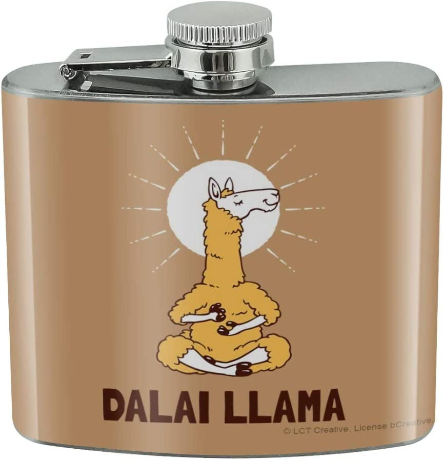 Dalai Llama Funny Humor Stainless Steel 5oz Hip Drink Kidney Flask