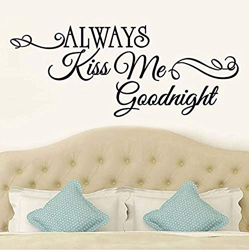 Profit Decal Personalized Alphabet Phrase Always Kiss Me Good Night Removable Art Home Room Decoration Stickers Wall Decals Decor Vinyl Sticker Q11685