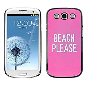 Plastic Shell Protective Case Cover || Samsung Galaxy S3 I9300 || Birch Funny Text White @XPTECH