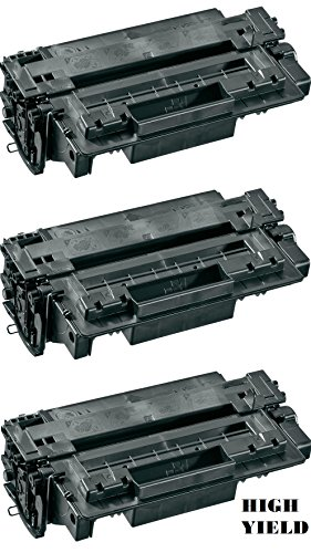 GLB Premium Quality Compatible Replacement For HP 11A(11X)/HP Q6511A(Q6511X) High Yield Black Laser Toner Cartridge for HP LaserJet 2410, 2420, 2430 Series Printers(3-Pack) 2420 2430 Series High Yield