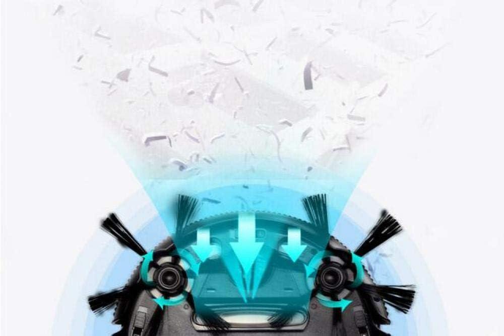 WANGXIAO Aspirateur Robot,Vadrouille à Aspiration Puissante Capteur Anti-Collision 3 en 1 Ultra Silencieux pour Les Tapis,Blue Gold