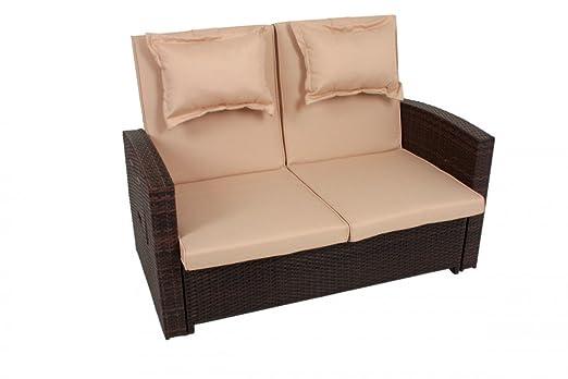 Garden Pleasure multifunción sofá Alicante), color marrón: Amazon ...