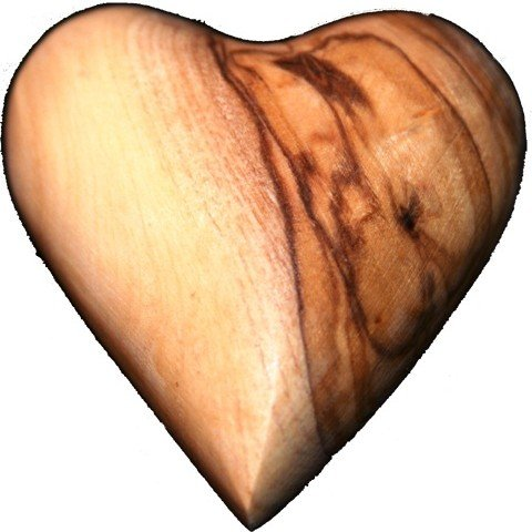 Olive Wood Caved Hearts Made in Bethlehem Perfect Quality