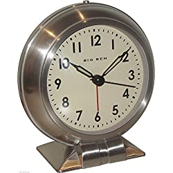 Westclox Big Ben Classic Metal Quartz Alarm Clock 90010 Vintage Antique Design