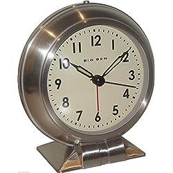 Westclox Big Ben Classic Metal Quartz Alarm Clock 90010 Vintage Antique Design