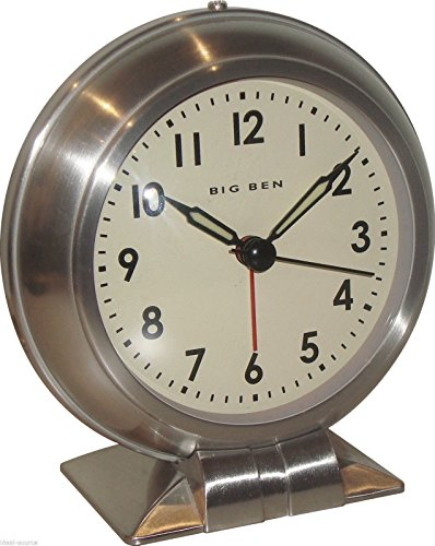 Westclox Big Ben Classic Metal Quartz Alarm Clock 90010 Vintage Antique Design -