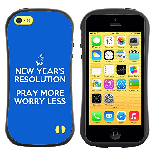 DREAMCASE Citation de Bible Silicone et Rigide Coque Protection Image Etui solide Housse T¨¦l¨¦phone Case Pour APPLE IPHONE 5C - PRAY MORE, WORRY LESS