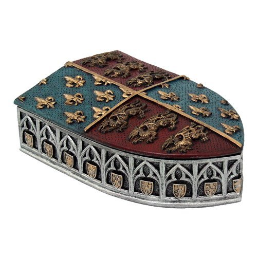 Pacific Giftware Medieval Times Coat of Arms Shield Lidded Box