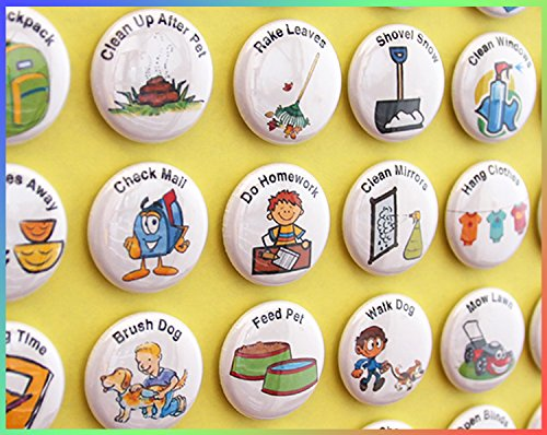ilostmyslipper LLC Chore Magnets for Older Kids. 35 piece set. 1