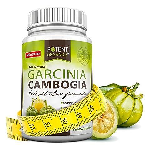 Pure Garcinia Cambogia Extract - 95% HCA Capsules - Best Weight Loss Supplement - Non GMO - Gluten and Gelatin Free - Natural Appetite Suppressant - 100% Money Back Guarantee - Order Risk (Carcinia Cambogia Premium)