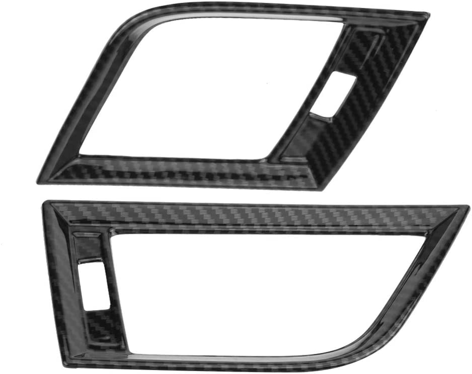 a/ño Fiscal 2018 XHULIWQ 2 Piezas de Fibra de Carbono del Lado del Coche Aire Acondicionado Cubierta de Salida de ventilaci/ón Ajuste para Audi Q5