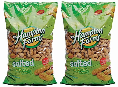 Peanuts Whole Hampton Farms Raw Salted & Roasted In Shell Shelled (2) 10 Ounce Bags (Peanuts Shell Salted)