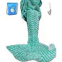 LAGHCAT Mermaid Tail Blanket Knit Crochet Mermaid Blanket...