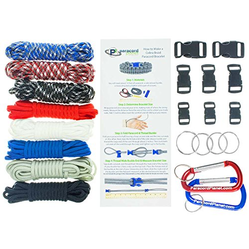 Paracord Survival Bracelet & Project Kit - 550