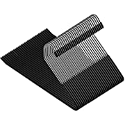 ZOBER Slack/Trousers Pants Hangers - 30 Pack - Strong and Durable Anti-Rust Chrome Metal Hangers, Non Slip Rubber Coating, Slim & Space Saving, Open Ended Design for Easy-Slide Pant, Jeans, Slacks Etc