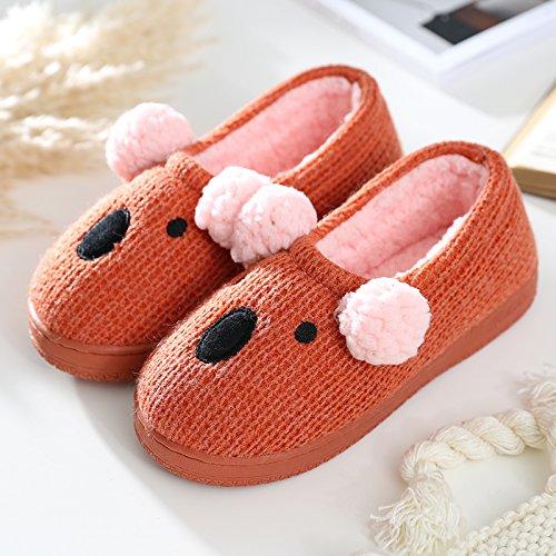 38 peluche all spessore 260 della cotone caldo lana in piedi femmina rosso con di di 39 pantofole con per inclusive fankou scarpe home cotone borsa Inverno dimensioni home shoes pantofole o grandi q40wpPI8