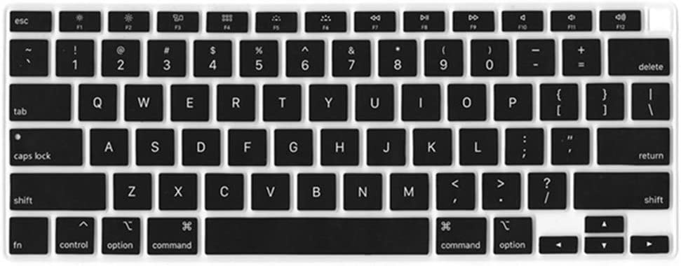 KBBHD Plastic Shell Case Cover Keyboard Cover Screen Protector Only Compatible 2010-2017 Release Older Version MacBook Air 13 inch No Touch ID Model: A1369//A1466 Non Cut Out Black