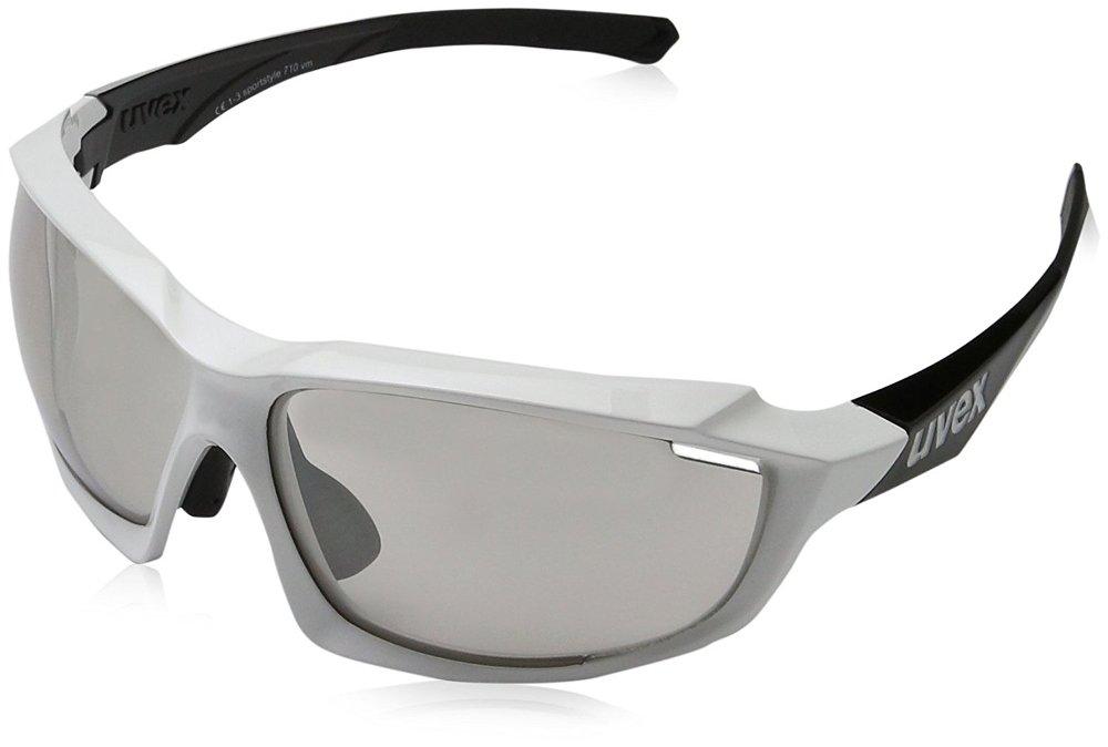 Uvex Sportstyle 710 VM Photochromic Sunglasses White Black, One Size - Men's by Uvex