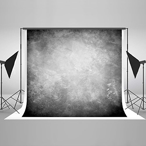 Kate 20ft(W)x10ft(H) Texture Photography Backdrops for Photographers Microfiber Reused Abstract Black Grey Photo Backdrop by Kate