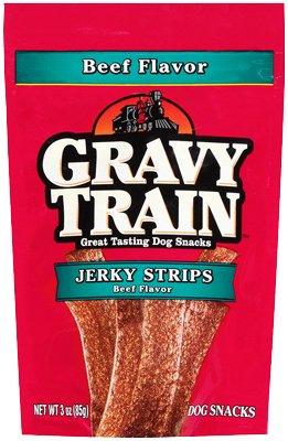 - 9 Lives 513670 Gravy Train Jerky Strip Dog Treat44; 3 oz