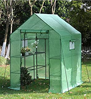 TecTake Invernadero de jardín vivero casero Plantas Cultivos - Varios Modelos - (186x120x190cm | No. 401861): Amazon.es: Jardín