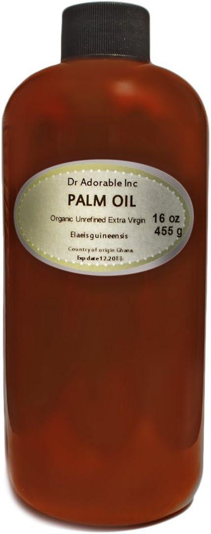 Aceite de palma roja virgen extra orgánico sin refinar, 16 oz