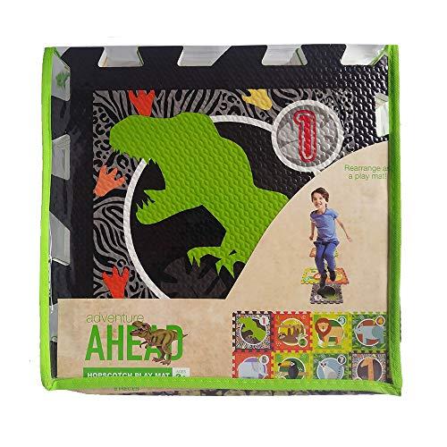 Hopscotch Playmat for Kids Interlocking Foam Carry Bag Animals Theme