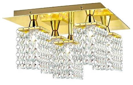 Plafoniere Ottone Design : Eglo my light style applique plafoniera in ottone con