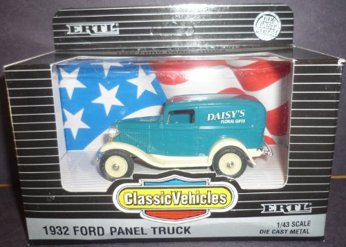 1932 Panel Ford - #2504 Ertl Classic Vehicles 1932 Ford Panel Truck 1/43 Scale Diecast .