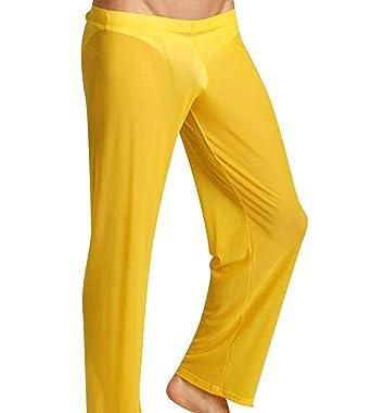 c5c5203a848a5 GUOCU Hommes Pantalon Yoga Transparent Super Confort sous-Vêtement Pyjamas:  Amazon.fr: Vêtements et accessoires