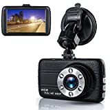 Dash Cam, 3″ Screen 1080P HD Car Recorder, 170°Wide Angle Night Vison Dashboard Camera with G-Sensor, Loop Recording, WDR, Parking Guard (Black)