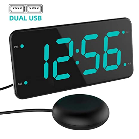 Home Decor Cheap Price Us Plug Led Digital Alarm Clock Fm Radio Loud Alarm Clock For Heavy Sleepers With Brightness Dimmer Dual Alarm 2 Usb Charging Back To Search Resultshome & Garden