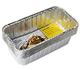 eHomeA2Z (50 Pack) Heavy Duty Disposable Aluminum 2 Lb Loaf Pans For Bread, Cake, Meatloaf, 8.5 x 4.5 x 2.5 (50, 2 Lb Loaf Pan)