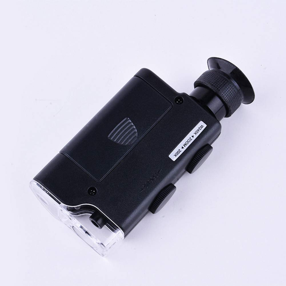 SFHK Portable Microscope 200x-240x Zoom Magnifier LED UV Lampe
