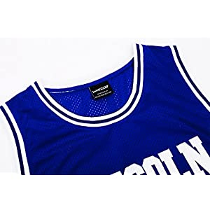 JOLI SPORT Men's Basketball Jersey Jesus Shuttlesworth 34 Lincoln High School Basketball Jersey S-XXXL Blue (XXLarge)