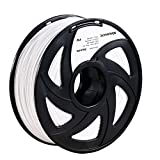 3D Printer Filament,White 1.75mm PLA Printing Filament,1.2kg Spool,Dimensional Accuracy +/- 0.05mm