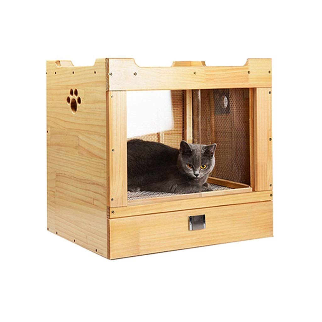 Jlxl Wooden Pet Drying Box, Dog Hair Electronic Temperature Measurement Design Bath Blowing Blow For Adjustable Temperature