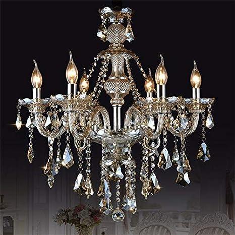 Homelava Lámpara de Techo de Cristal Lámpara con 6 Luces para Salón/Comedor/Hotel/Dormitorio
