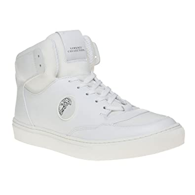 Versace Collection Saddle Hi-Top Homme Baskets Mode Blanc  Amazon.fr ... 35295b4b8f1