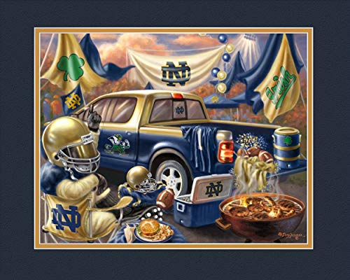 Prints Charming College Tailgate Notre Dame Fighting Irish Unframed Poster 12x16 Inches
